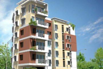 תכנון אדריכלי של חזית בניין בשיפוץ
