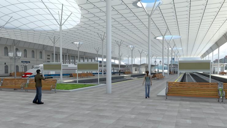 """שיפוץ תחנת רכבת""""פינלנד"""",סנט פטסבורג"""
